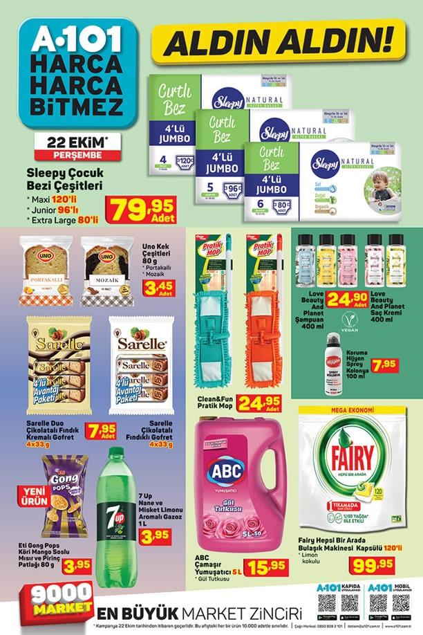 A101 22 Ekim 2020 İndirimli Ürünler Kataloğu