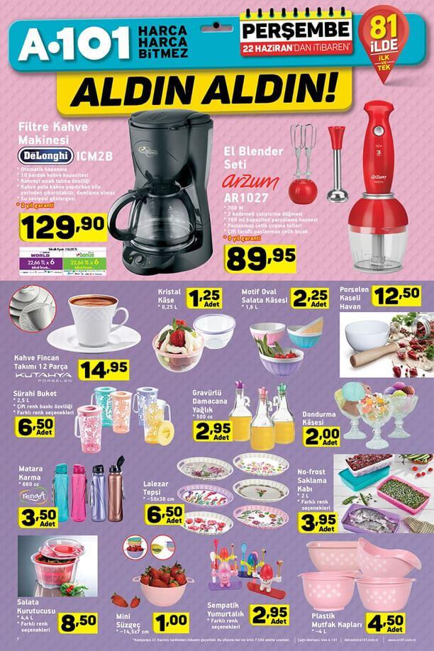 A101 22 Haziran 2017 Delonghi Filtre Kahve Makinesi