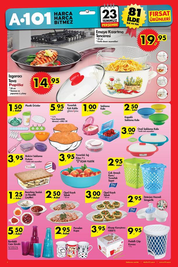 A101 23.07.2015 Aktüel Ürünler Katalogu - Izgaracı Tava