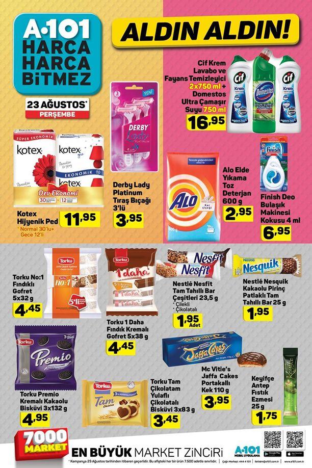 A101 23 Ağustos 2018 Fırsat Ürünleri Kataloğu