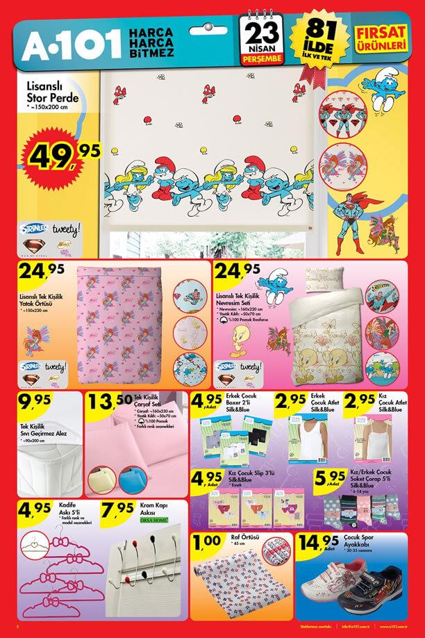 A101 23 Nisan 2015 Aktüel Ürünler Kataloğu - Ev Tekstili