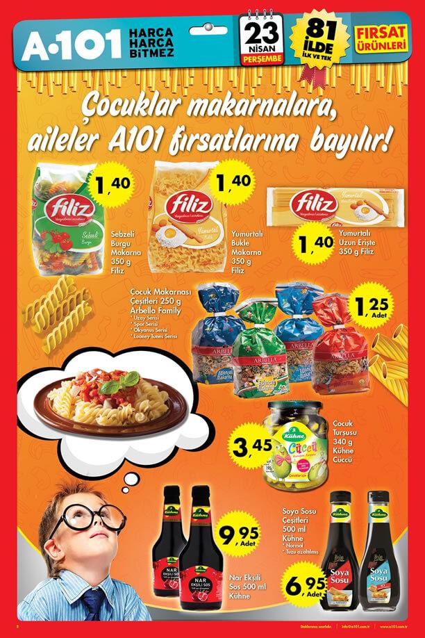 A101 23 Nisan 2015 Aktüel Ürünler Kataloğu - Makarna