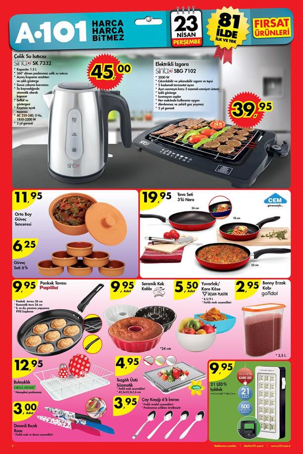 A101 23 Nisan 2015 Fırsat Ürünleri Kataloğu - Sinbo