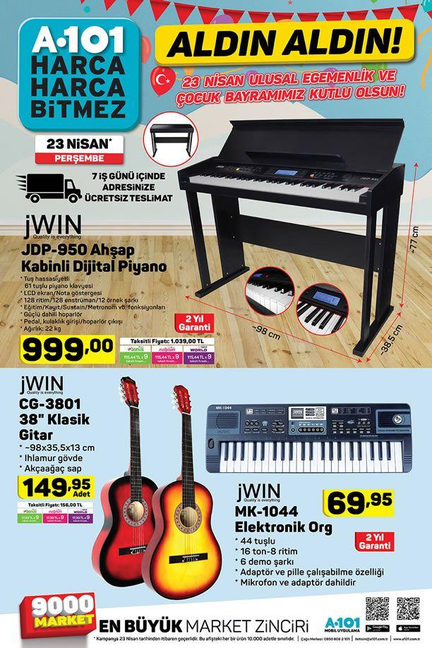 A101 23 Nisan 2020 Perşembe Kataloğu - JWIN Klasik Gitar