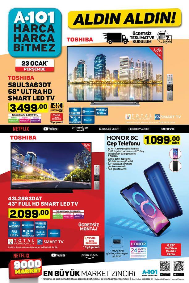 A101 23 Ocak 2020 Aktüel Kataloğu - Toshiba Ultra HD Smart Led Tv