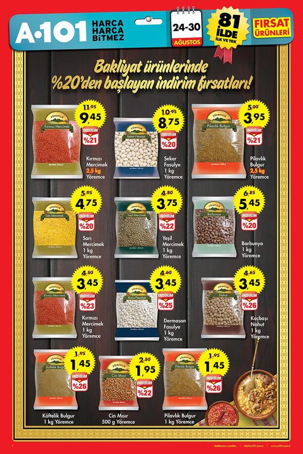 A101 24-30 Ağustos 2015 Fırsat Ürünleri Katalogu - Yöremce