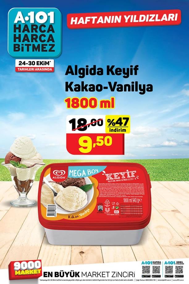 A101 24 - 30 Ekim 2020 Algida Keyif Kakao - Vanilya İndirimi