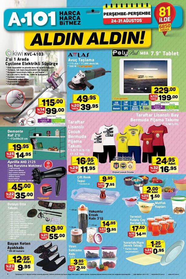 A101 24 Ağustos - 31 Ağustos 2017 Aktüel Ürünler