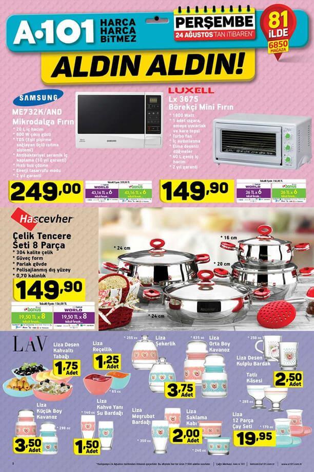 A101 24 Ağustos - Samsung Mikrodalga Fırın