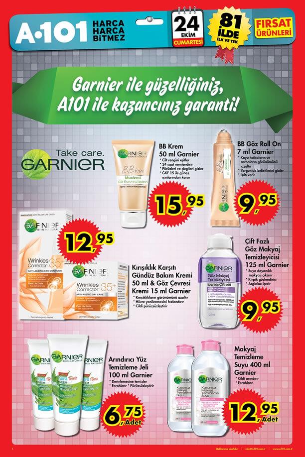 A101 24 Ekim 2015 Aktüel Ürünler Katalogu - Garnier
