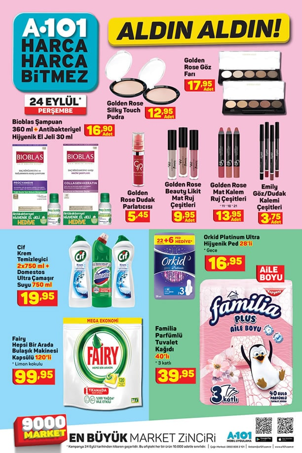 A101 24 Eylül 2020 Fırsat Ürünleri Broşürü - Makyaj Malzemeleri