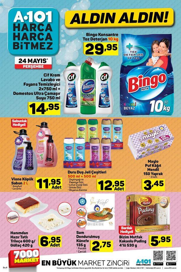 A101 24 Mayıs Fırsat Ürünleri Katalogu - Temizlik Ürünleri