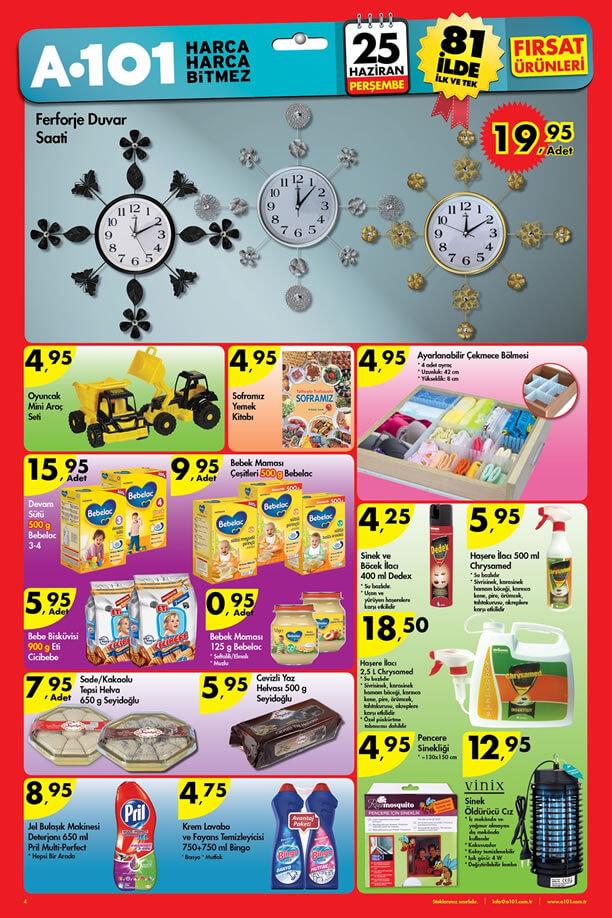 A101 25 Haziran 2015 Fırsat Ürünleri Katalogu - Bebelac