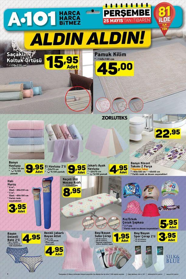 A101 25 Mayıs 2017 Fırsat Ürünleri Katalogu - Pamuk Kilim