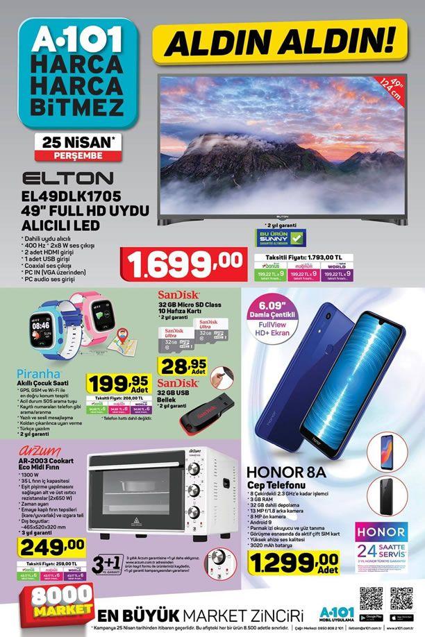 A101 25 Nisan 2019 Kataloğu - Honor 8A Cep Telefonu