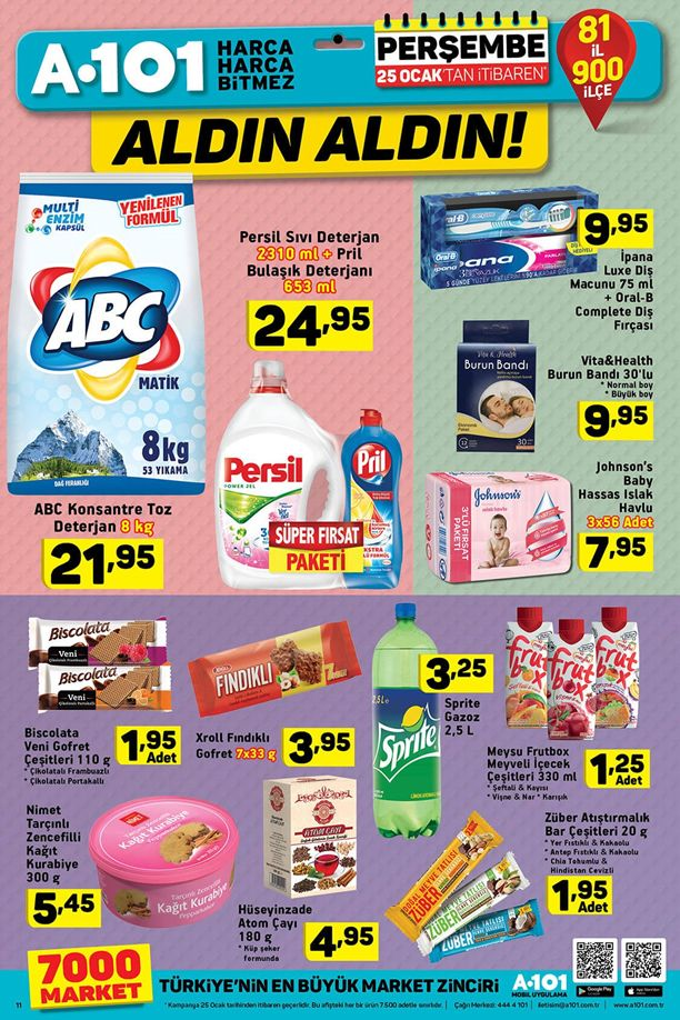 A101 25 Ocak 2018 Fırsat Ürünleri Katalogu