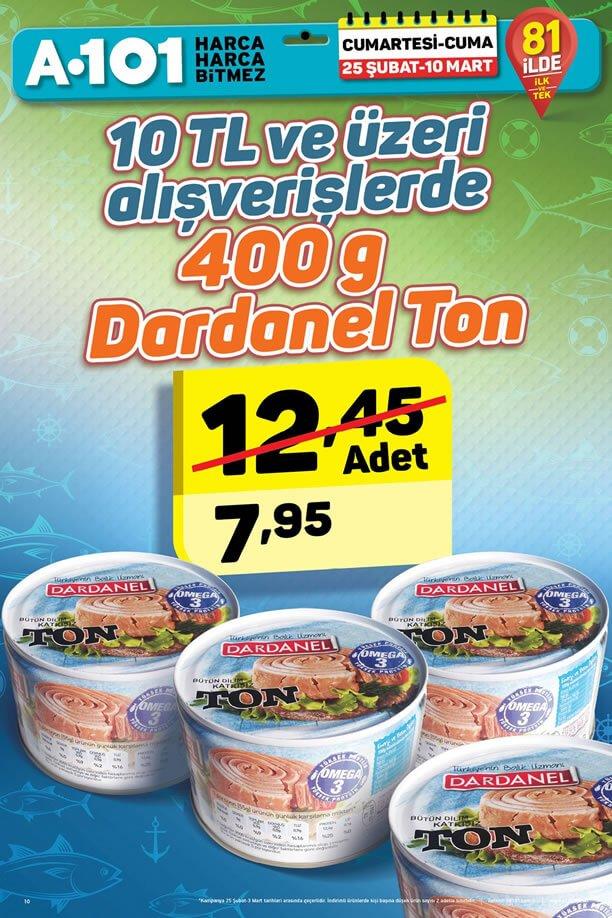 A101 25 Şubat - 10 Mart 2017 Kampanyası - Dardanel Ton