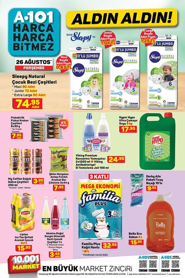 A101 26 Ağustos 2021 Fırsat Ürünleri Kampanyası