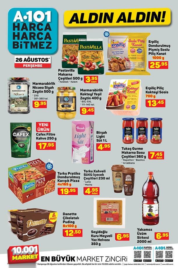 A101 26 Ağustos 2021 İndirimli Ürünler Kataloğu