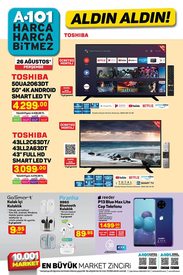 A101 26 Ağustos 2021 Kataloğu - Toshiba 4K Android Smart Led Tv