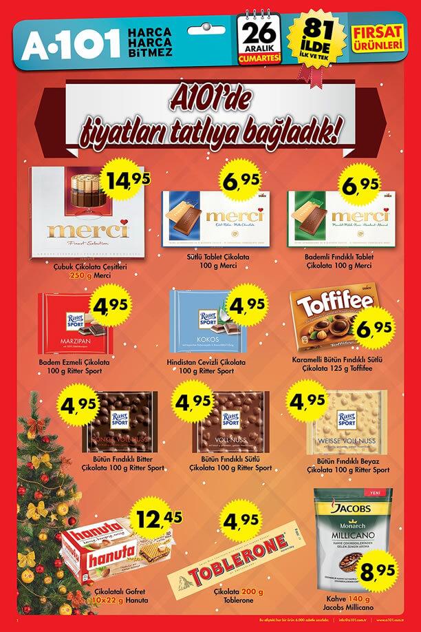 A101 26 Aralık 2015 Cumartesi Fırsatları - Merci Çikolata