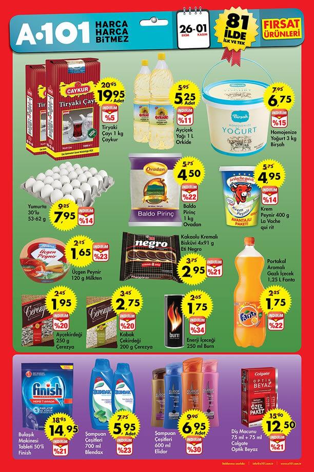 A101 26 Ekim - 1 Kasım 2015 Aktüel Ürünler Katalogu
