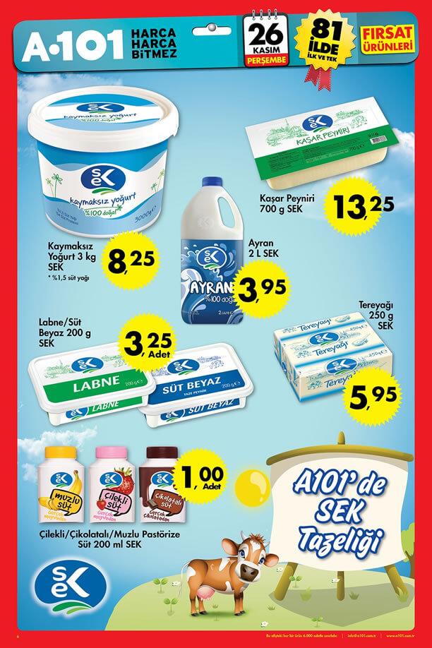 A101 26 Kasım - 2 Aralık 2015 Katalogu - SEK Süt
