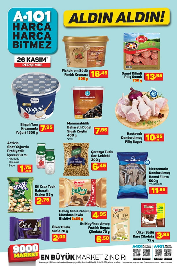 A101 26 Kasım 2020 İndirimli Ürünler Kataloğu