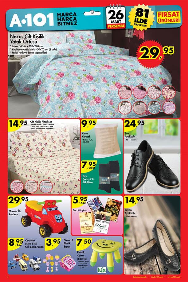 A101 26 Mart 2015 Aktüel Ürünler Kataloğu - Ev Tekstili