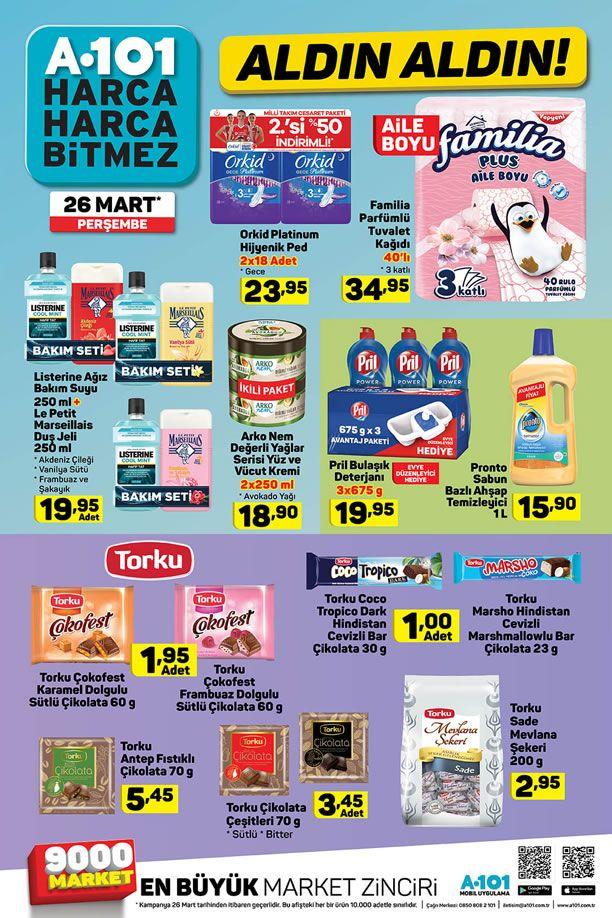 A101 26 Mart 2020 İndirimli Ürünler Kataloğu