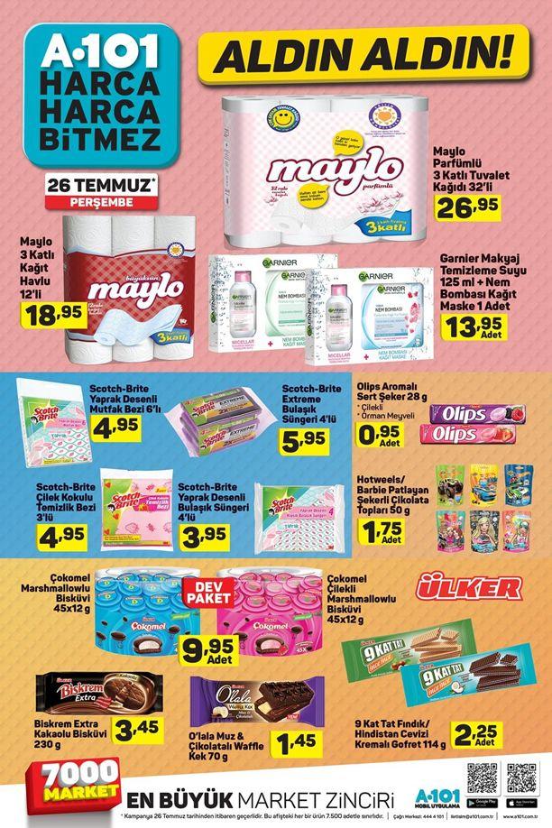 A101 26 Temmuz 2018 Fırsat Ürünleri Kataloğu