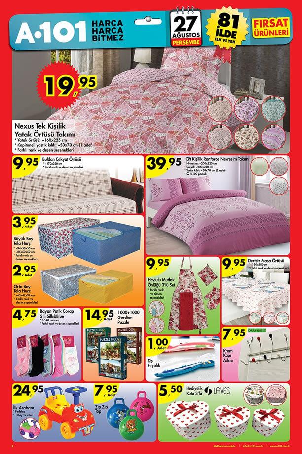 A101 27.08.2015 Aktüel Ürünler Katalogu - Nexus Yatak Örtüsü