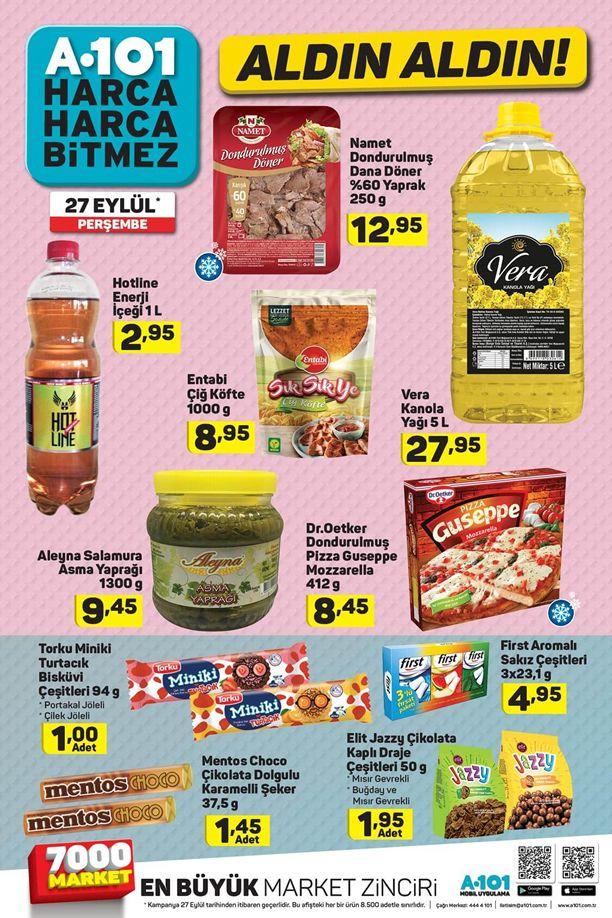 A101 27 Eylül 2018 Fırsat Ürünleri Kataloğu - Vera Kanola Yağı