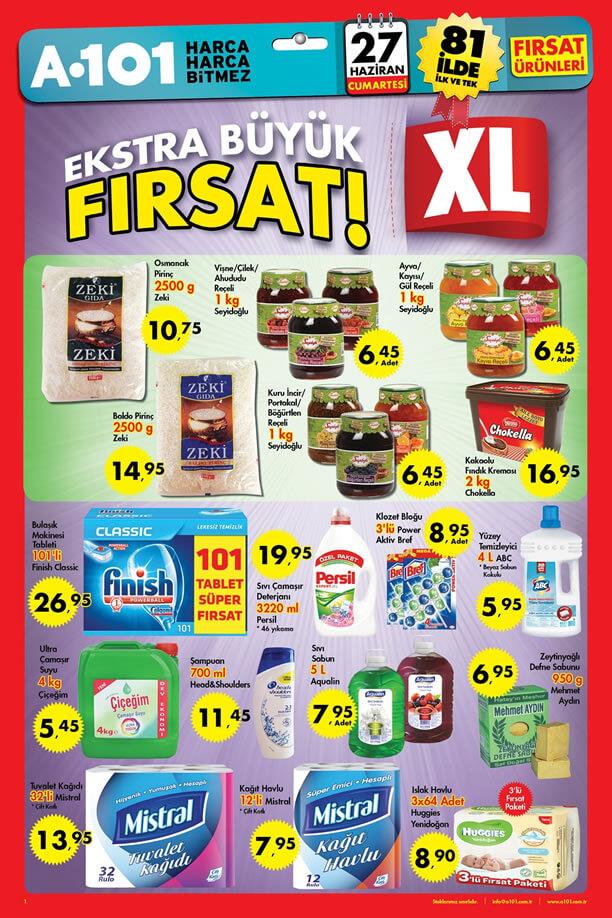A101 27 Haziran 2015 Aktüel Ürünler Katalogu - XL
