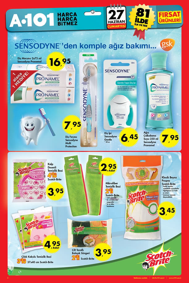 A101 27 Haziran 2015 Fırsat Ürünleri Katalogu - Sensodyne