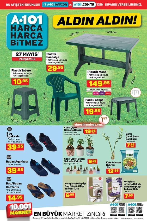 A101 27 Mayıs 2021 Perşembe - Plastik Masa Sandalye