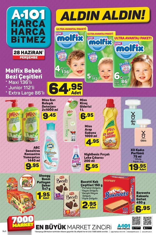 A101 28 Haziran 2018 Aktüel Ürün Kataloğu - Molfix Bebek Bezi