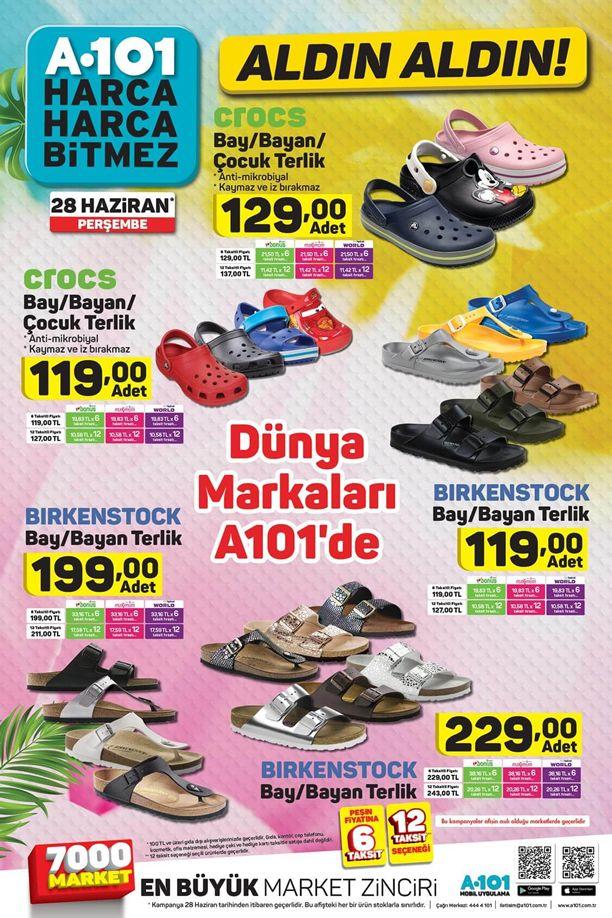 A101 28 Haziran 2018 Katalogu - Crocs ve Birkenstock
