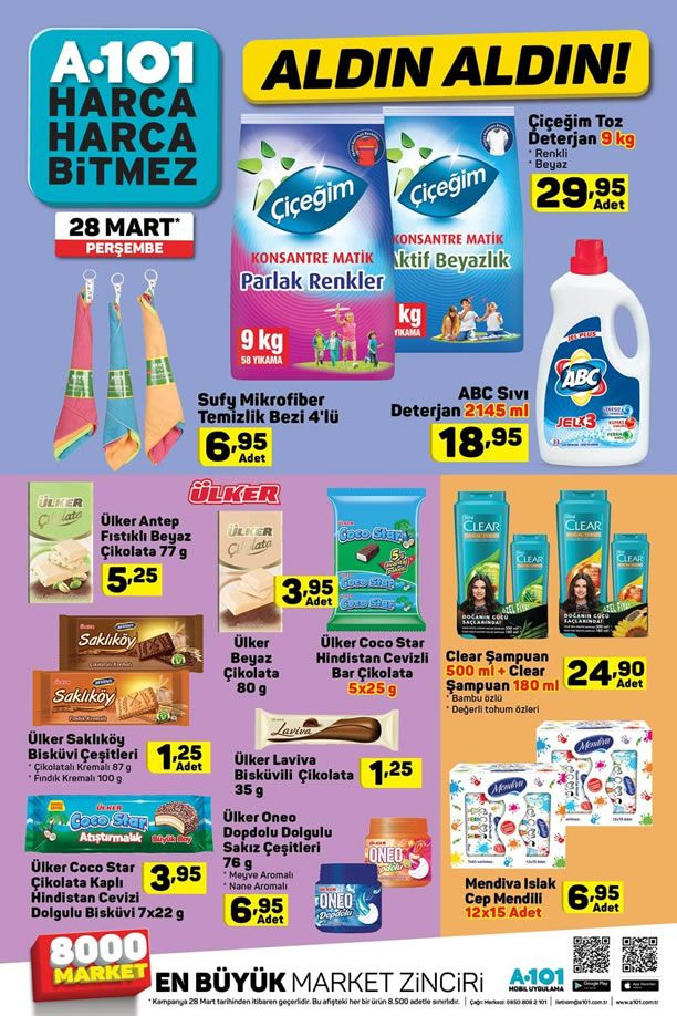 A101 28 Mart 2019 Fırsat Ürünleri Kataloğu - ABC Sıvı Deterjan