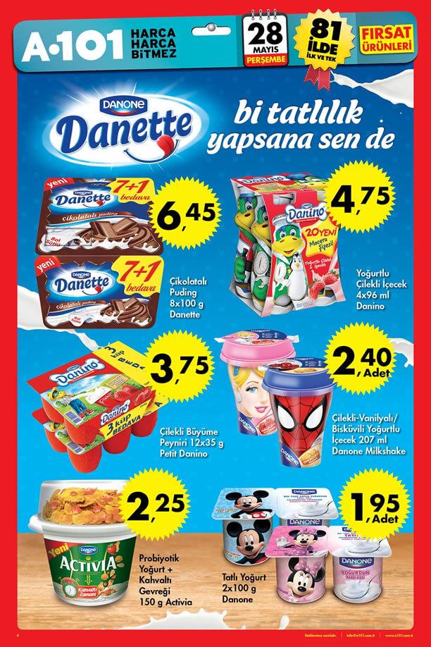 A101 28 Mayıs 2015 Aktüel Ürünler Katalogu - Danone