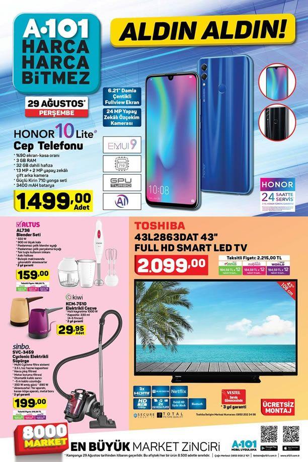 A101 29 Ağustos 2019 Kataloğu - Honor 10 Lite Cep Telefonu