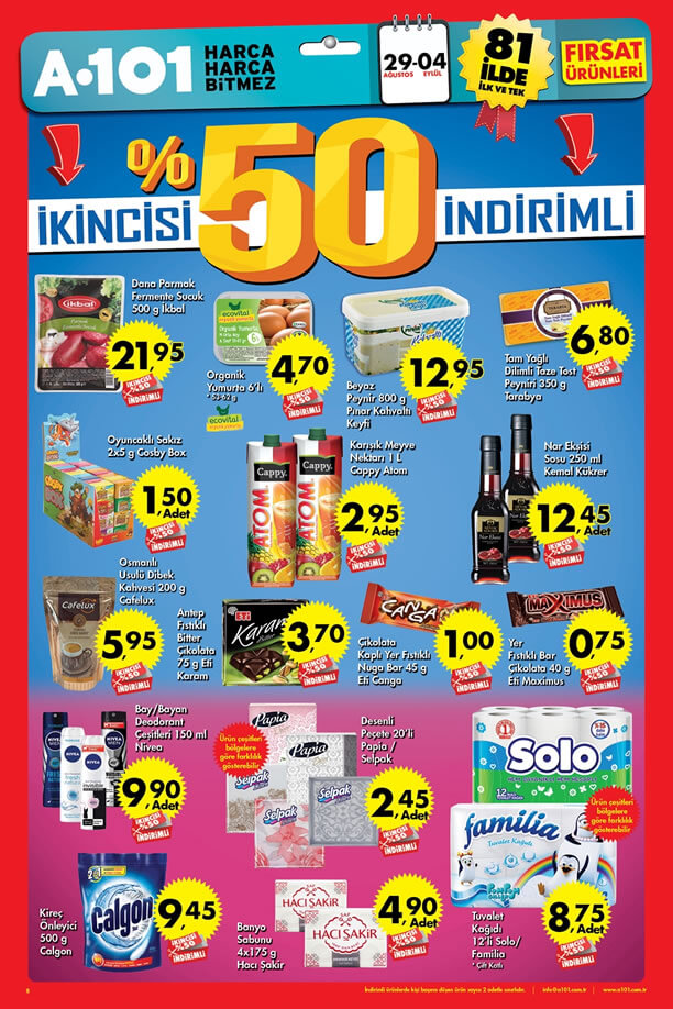 A101 29 Ağustos - 4 Eylül 2016 Fırsat Ürünleri Katalogu