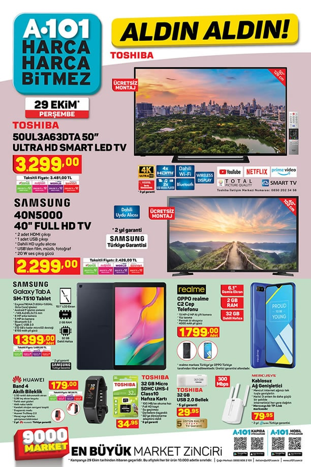 A101 29 Ekim 2020 - Samsung Galaxy Tab A SM-T510 Tablet
