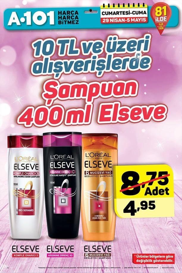A101 29 Nisan - 5 Mayıs 2017 Fırsatları - Elseve Şampuan
