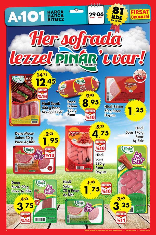 A101 29 Şubat - 6 Mart 2016 Aktüel Ürünler Katalogu - Pınar Sucuk
