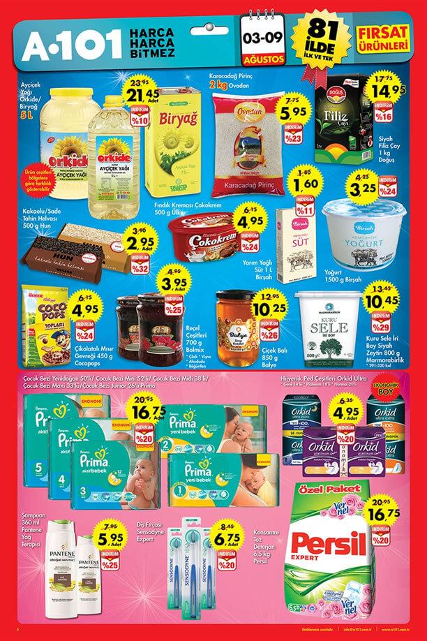 A101 3-9 Ağustos 2015 Aktüel Ürünler Katalogu - Ayçiçek Yağı