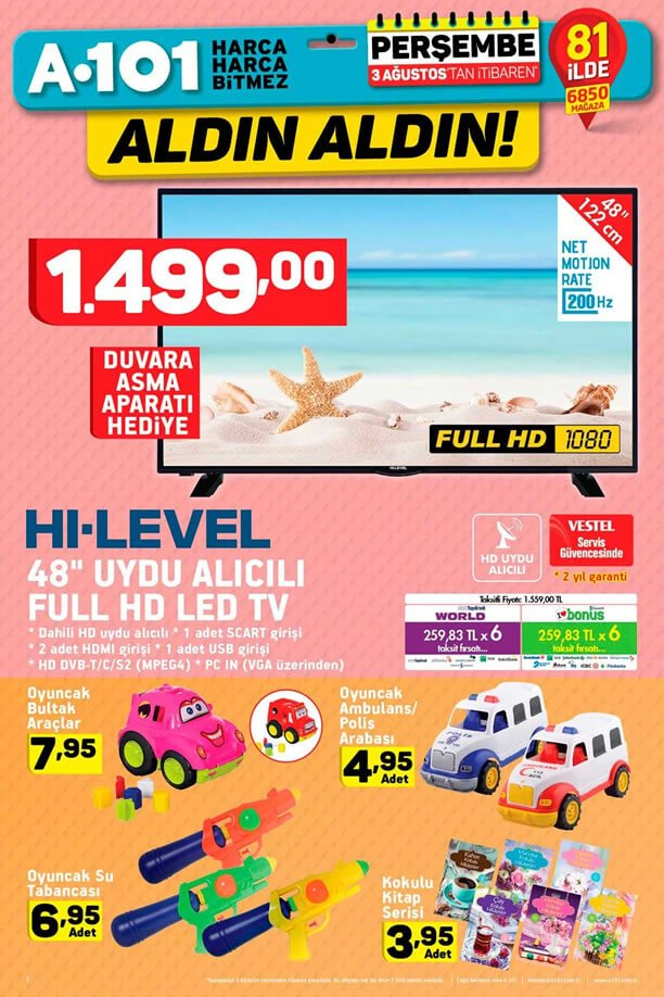 A101 3 Ağustos - HI-LEVEL Led Tv