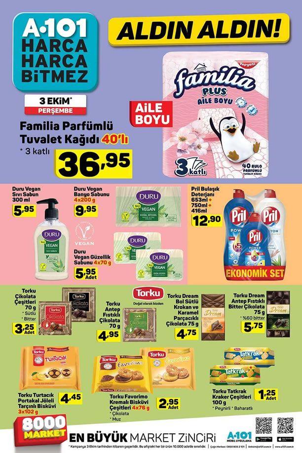 A101 3 Ekim 2019 İndirimli Ürünler Kataloğu