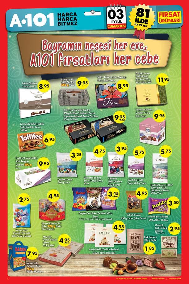 A101 3 Eylül 2016 Aktüel Ürünler Katalogu - Bayram Şekeri