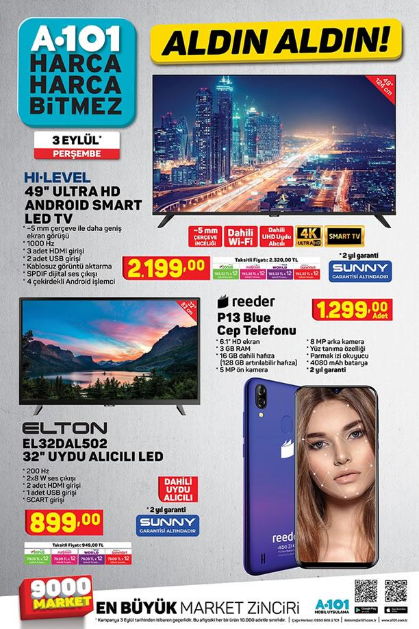 A101 3 Eylül 2020 Aktüel Kataloğu - Reeder P13 Blue Cep Telefonu